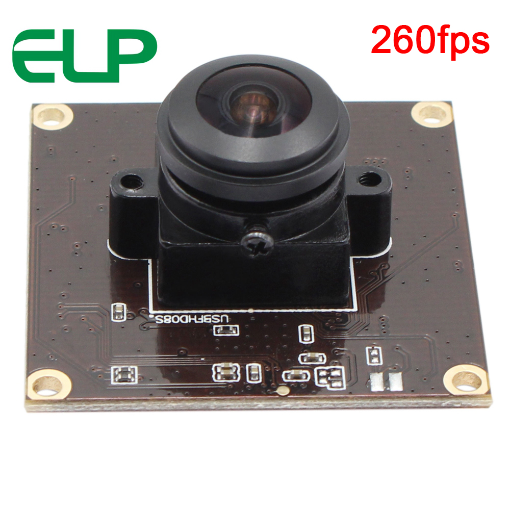ELP 2MegaPixels OV4689 CMOS 180degree Fisheye Lens Circuit Board Module HD 720P 120fps Camera USB For 360 Camera